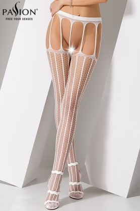 Collants ouverts S004 - Blanc