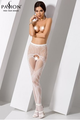 Collants ouverts S007 - Blanc