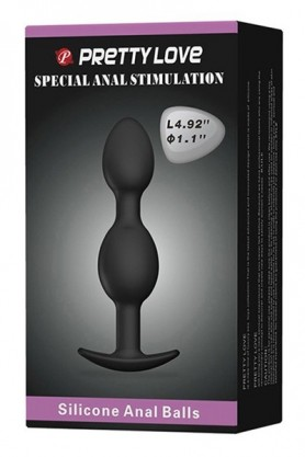 Silicone anal balls 12,5 cm