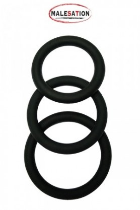 Set 3 CockRings silicone -...