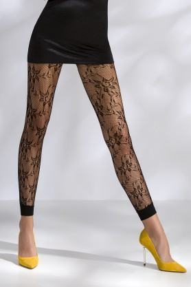 Leggings résille noir TI051 - Pink Monkey
