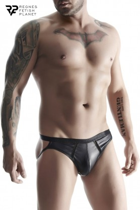 Jock strap noir wetlook -...