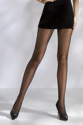 Collants résille noir TI044