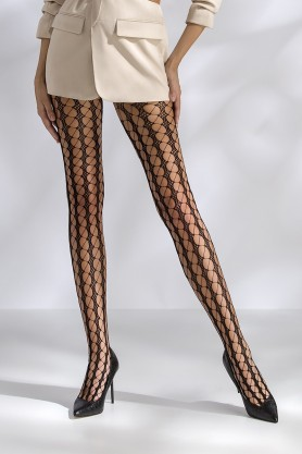 Collants résille noir TI048