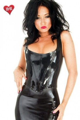 Boned Corset Top Latex