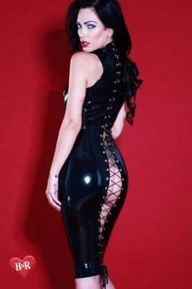 Robe latex Flash-Back